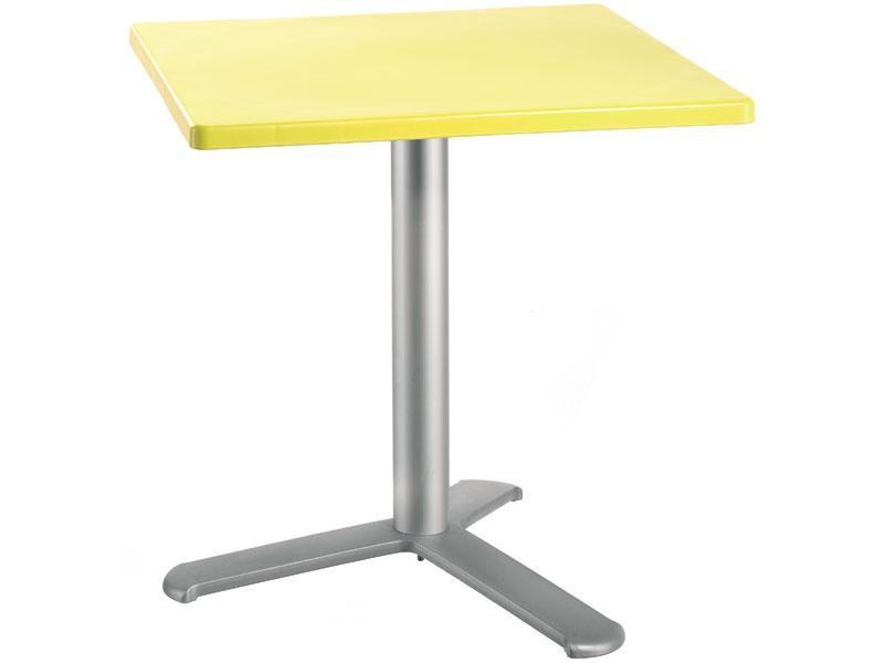Table 72x72 cod. 06/BG3L, Table carrée avec dessus en polypropylène
