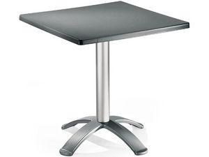 Table 72x72 cod. 06/BG4, Table basse avec 4 pieds, pour une utilisation extérieure
