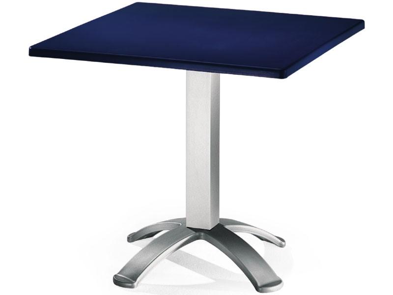 Table 80x80 cod. 23/BG4, Table carrée avec dessus en polypropylène