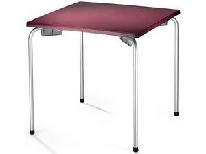 Table 80x80 cod. 23/I, Table empilable avec plateau carré, pour le côté extérieur
