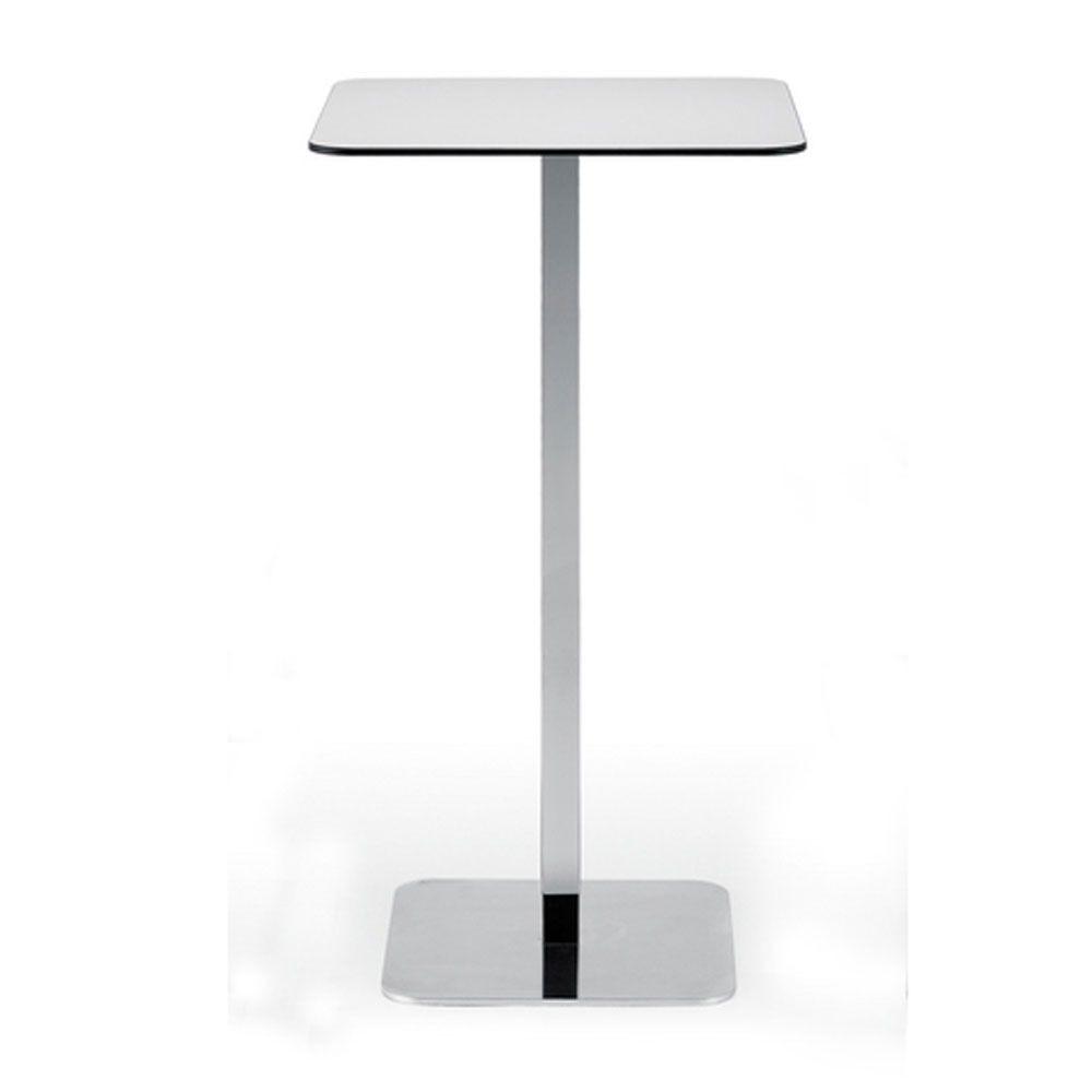 Voilà square h110, Table haute pour bar à cocktails, plateau en stratifié HPL, base en métal