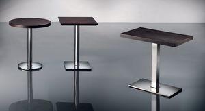 ART. 400/CR, Table basse carrée, base de chrome, pour les bars et pubs