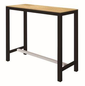 Banket, Table haute avec structure en métal, supérieure laminée