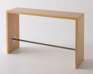 Break, Table haute stratifié avec repose-pieds, design