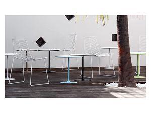 Dizzie 0681, Table de bar en acier, haut blanc en différentes tailles
