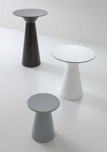 Roller tavolo 74, Table de bar en polymère, supérieure compactop