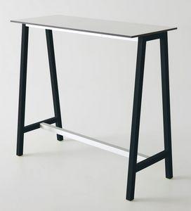 Step, Table haute en métal et polymère, pour les bars