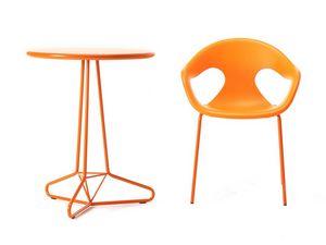 Tria Uno d60 d70, Table en métal solide et stable, également adapté pour une utilisation en extérieur