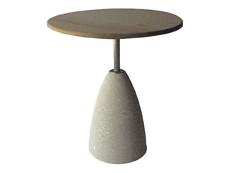 Element 1, Table en pierre avec plateau en bois, pour les bars et pubs