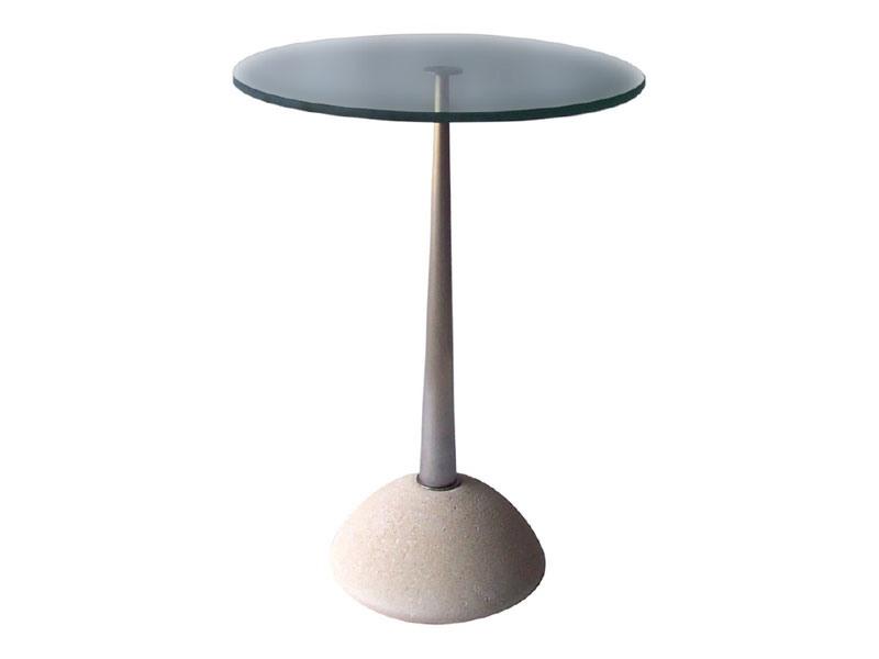 Memo, Table ronde en pierre et en verre, pour les bars et pubs