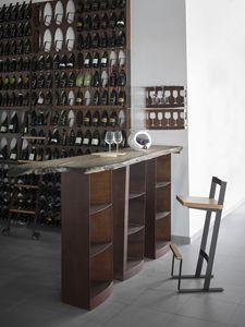Snack, Table haute pour tabourets de bar, avec plateau en bois massif