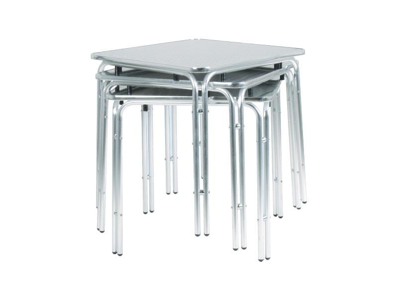 033, Table en métal pour bars et salons de crème glacée