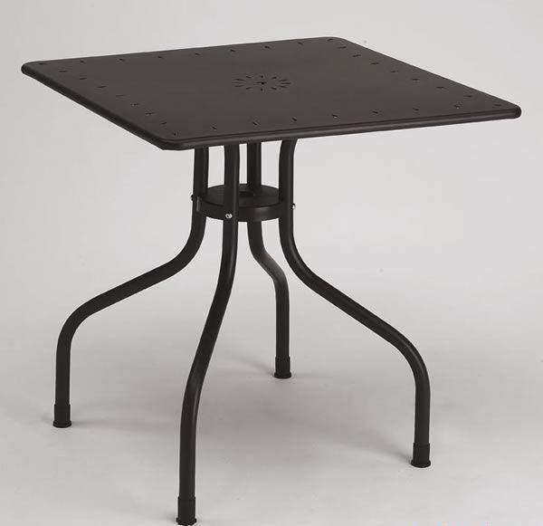 Arturo square table, Table carrée en métal pour l'extérieur, 80x80 cm