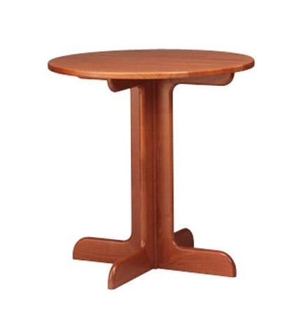 602, Petite table ronde en hêtre, base en croix, pour les pubs