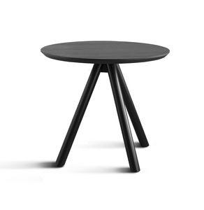 ART. 0098-3 AKY CONTRACT, Base de table pour bar avec trois pattes de bois et dessus de cendres