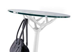 Cicerone, Petite table ronde en acier chromé et verre