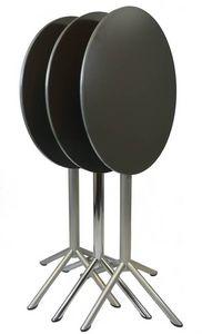 Cocktail - Fold, Table pliante haut adapté pour l'extérieur, une grande table avec plateau rond adapté pour les bars