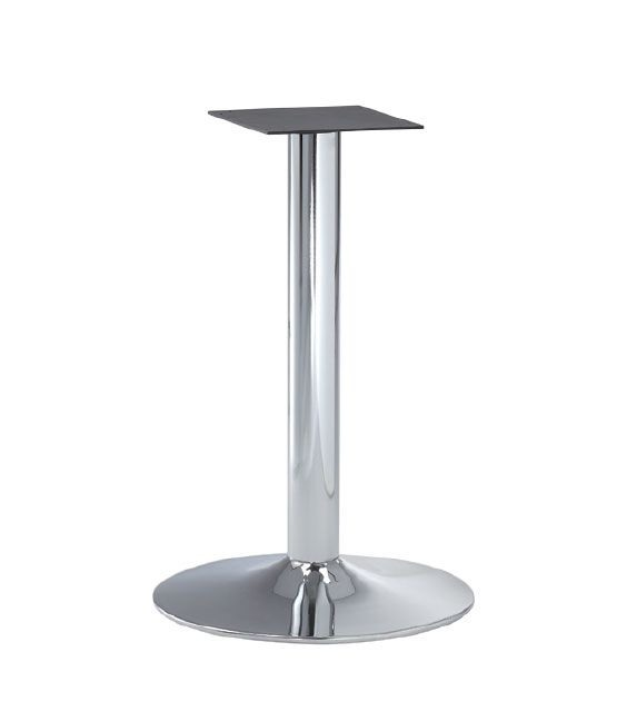 FT 013, Base de chrome en métal pour tables de bar
