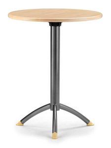 KOMBY 940, Table de bar avec base en métal, plateau rond