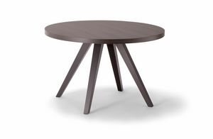 MILANO TABLE 083 H44 T, Table d'appoint ronde en bois