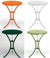 Raffaello table, Table basse en métal avec plateau rond, pour l'extérieur