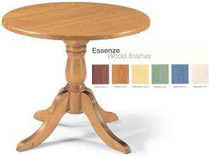 T/420, Table ronde entièrement en bois, pour les pubs