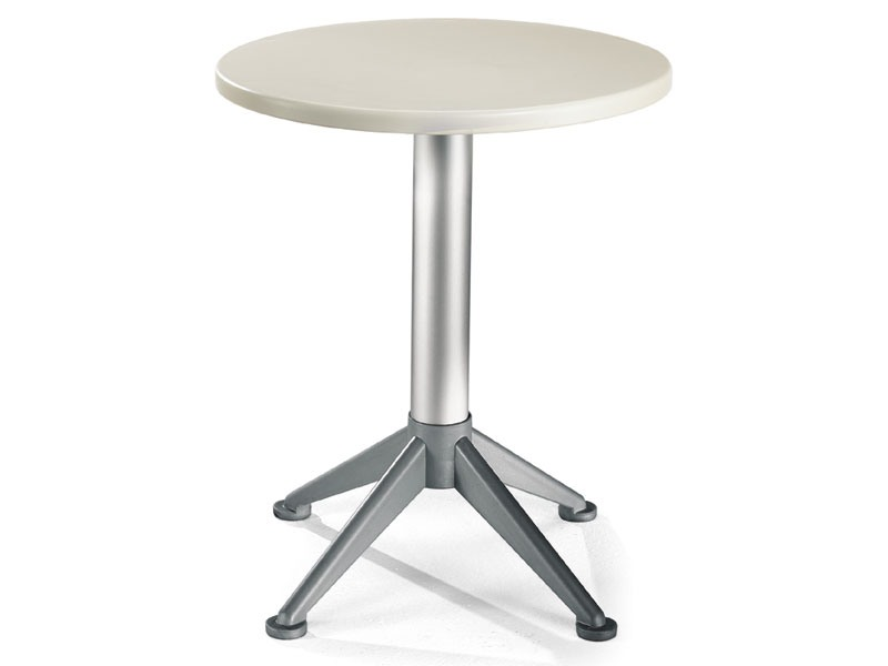 Table Ø 60 cod. 04/BG4A, Table d'appoint contemporaine avec 4 pieds de base
