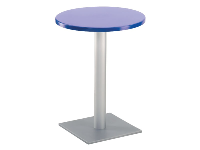Table Ø 60 cod. 04/BQ, Table de bar à base carrée, haut polymère
