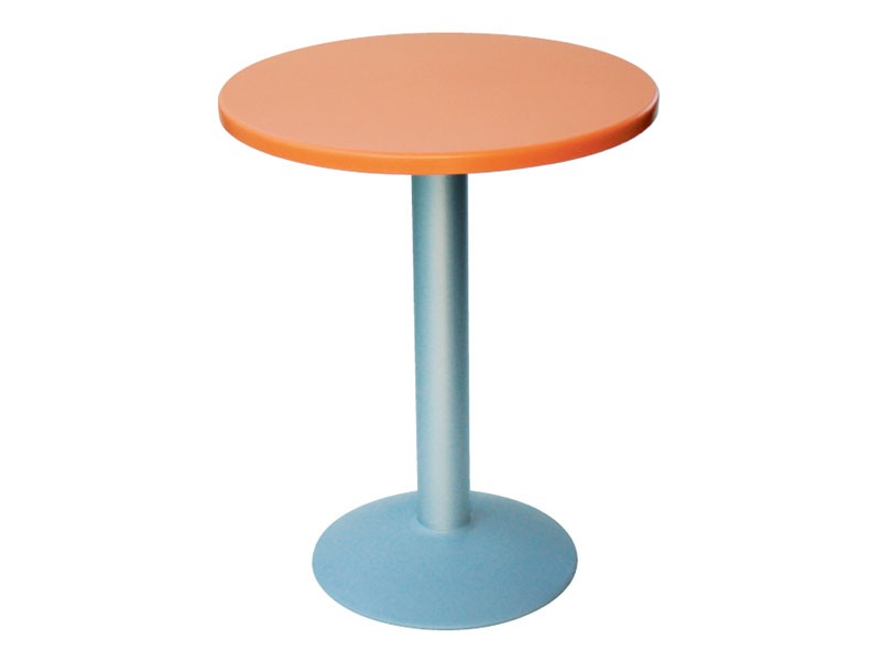 Table Ø 60 cod. 04/BT, Petite table ronde avec base ronde en aluminium
