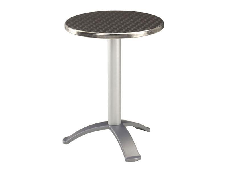 Table Ø 60 cod. 04.IF/BG3, Table basse en acier inoxydable pour les bars, base avec 3 pieds