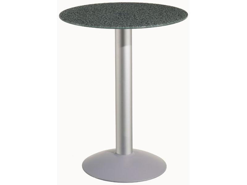 Table Ø 60 cod. 05/BTV, Table ronde avec base en aluminium, pour jardin et la piscine