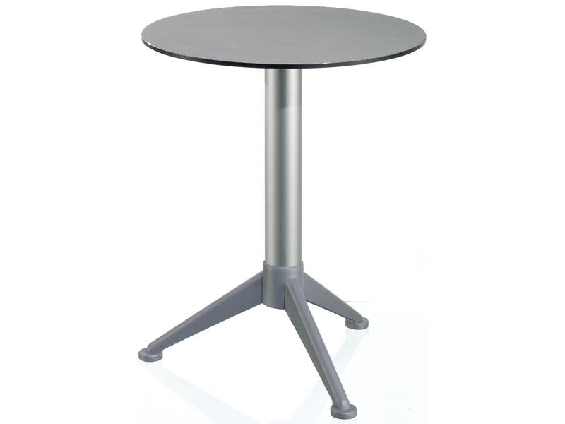 Table Ø 60 cod. 07/BG3A, Petite table ronde avec plateau en Alusystem