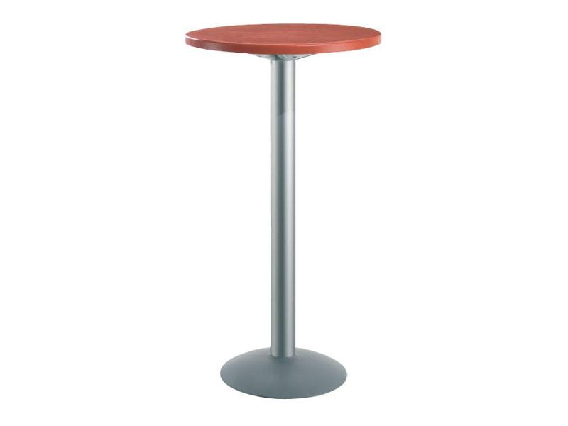 Table Ø 60 h 110 cod. 08/BT, Table ronde de haut pour les bars, haut polymère