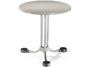 Table Ø 72 cod. 02, Table ronde pour les équilibres extérieurs en aluminium
