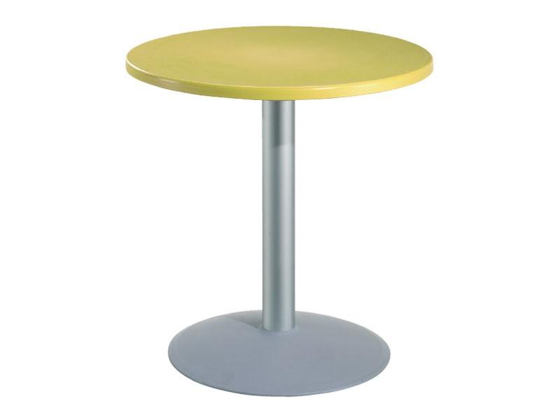 Table Ø 72 cod. 03/BT54, Table ronde pour les bars avec dessus en polymère