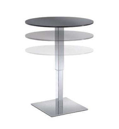 Table Halifax cod. 110, Table ronde réglable pour les hôtels et les bars