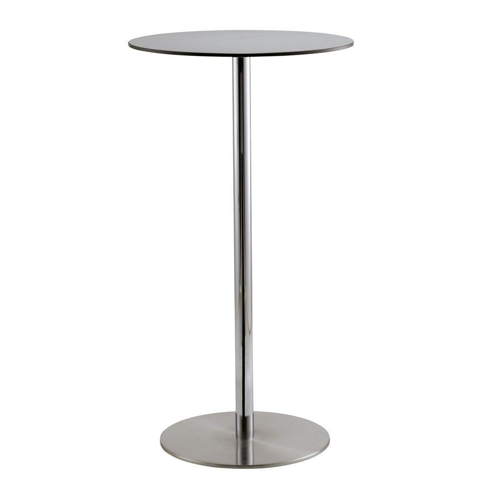 Voilà round h110, Cocktail table, plateau rond en stratifié HPL, approprié pour un pub et un bar mode