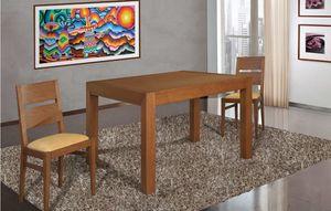 Art. 663, Table en bois avec un design rigoureux