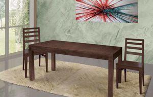 Art. 669, Table en bois pour un espace de vie moderne et raffiné
