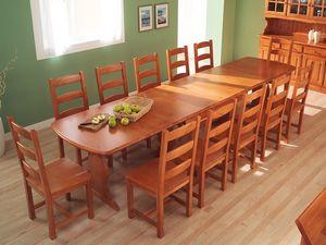 Collection Amb 05, Table en bois rectangulaire, des hôtels et des villas de montagne