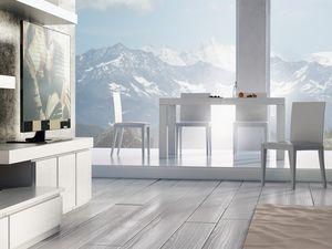 Compléments Table 01, Table en bois extensible, pour la vie moderne