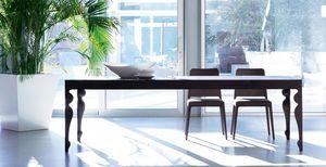 Giunione, Table extensible en bois de chêne