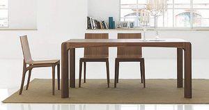 Kìnesis, Table à manger en bois, avec des bords arrondis