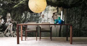 Sintesi, Table extensible en bois pour salle à manger