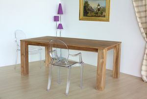 Table square, Table rectangulaire en bois de teck naturel
