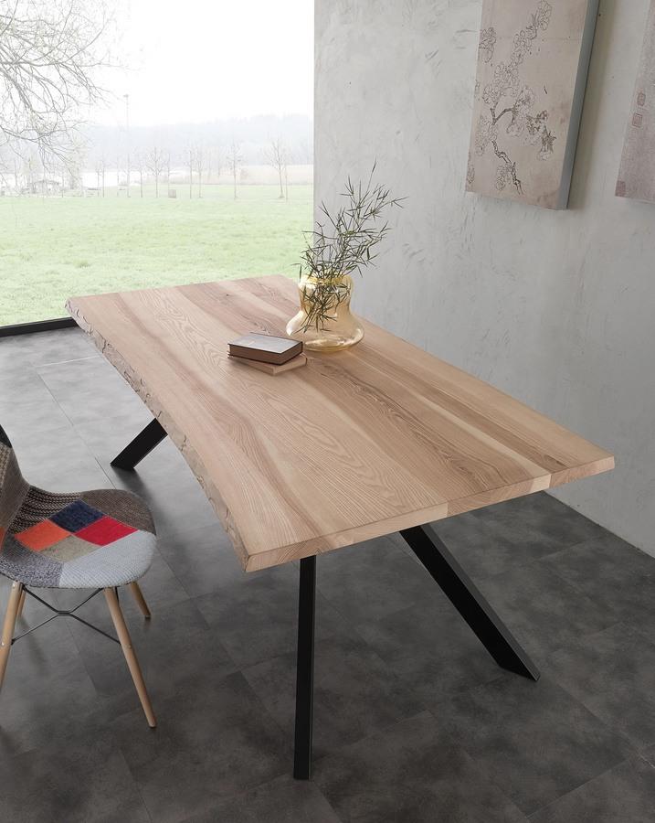 Art. 704ME Bio-Metal, Table avec frêne massif plateau en bois