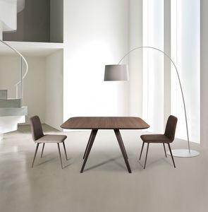 ART. 0094-0095-Met AKY, Table design en métal avec dessus en stratifié, pour une utilisation du contrat