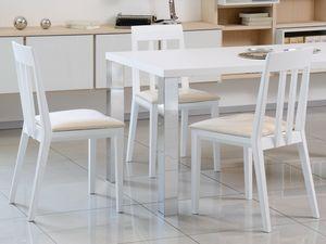 Complementi Tavoli e Consolle 15, Tableau simple en bois et métal, pour la vie moderne