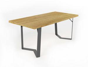 Doppiaelle, Table avec base en fer � la main