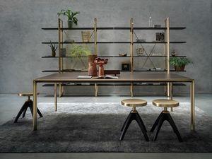 Frame Dining Table, Table en aluminium moulé sous pression
